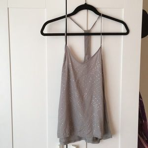 Tank top with silver gems - small